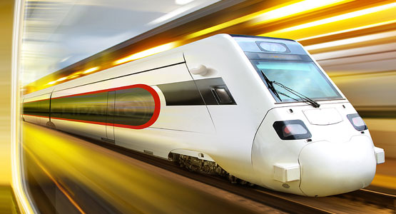 High-speed train in tunnel